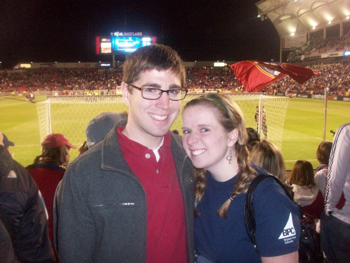 Katie and I at a RSL game