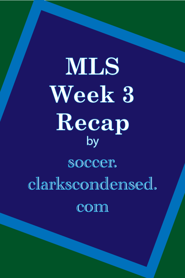 week 3 recap